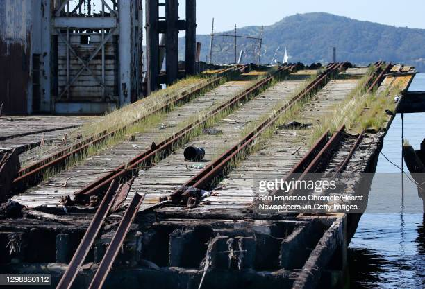 Remants of an historic railway terminal remains at Ferry Point in the Miller/Knox Regional Shoreline in Richmond, Calif. On Saturday, March 30, 2019....