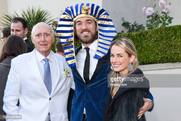 Remar Sutton Ben Berube and Amanda Hearst attend Hearst Castle Preservation Foundation Hollywood Royalty Dinner at Hearst Castle on September 28 2018...