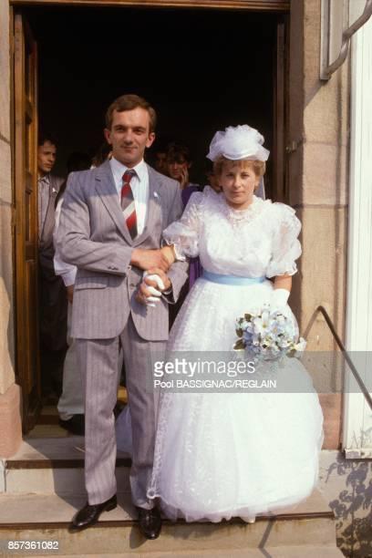 Remariage de MarieAnge Laroche veuve de Bernard Laroche avec son cousin Denis Jacob le 10 septembre 1988 en France