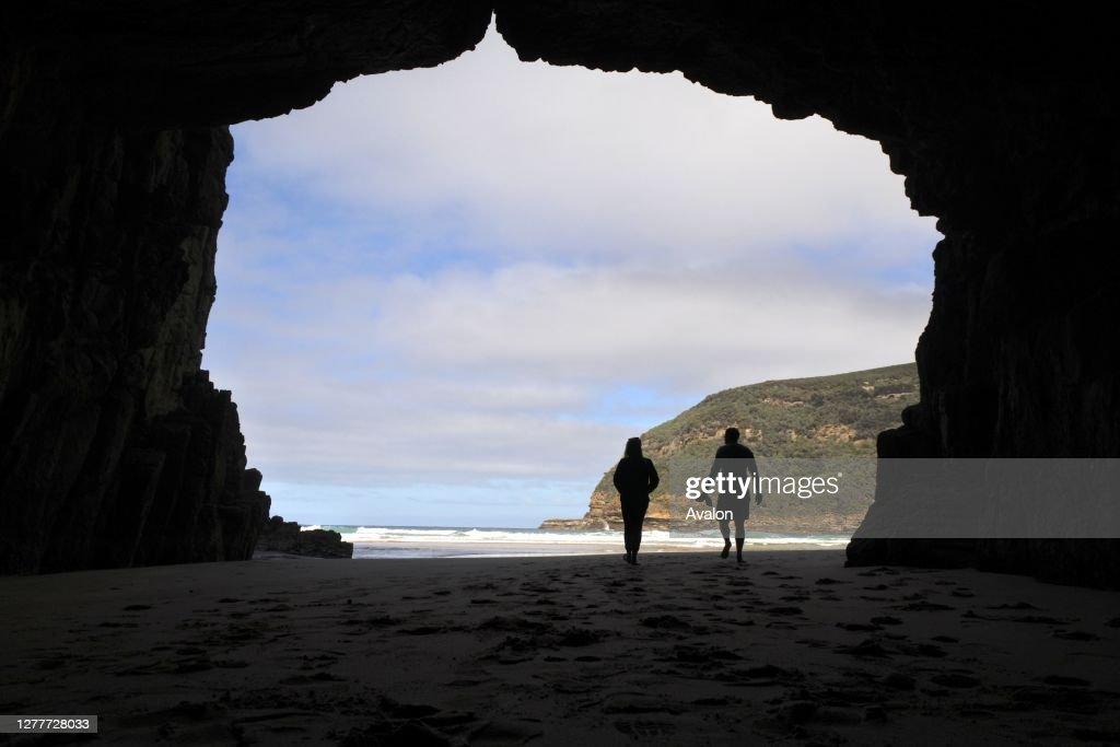 Remarkable Cave Tasman national park Tasmania Australia. : News Photo