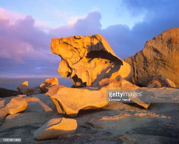 remarkable rocks at flinders chase national park, kangaroo island, south australia - kangaroo island stock pictures, royalty-free photos & images