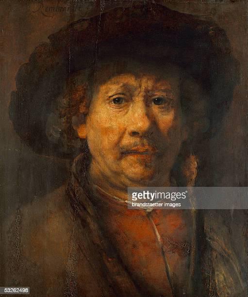 Rembarndt selfportrait Canvas Around 1657 [Selbstportrait von Rembarndt l/Holz Um 1657 488 x 406 cm Inv 414]