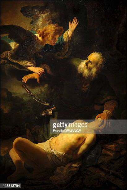 Rembrandt 400 'RembrandtCaravaggio' Exhibition In Van Gogh Museum Amsterdam On February 22Nd 2006 In Amsterdam Netherlands Here The Sacrifice Of...