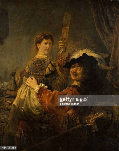 Rembrandt and Saskia in the parable of the Prodigal Son c 1635 Found in the collection of the Dresden State Art Collections