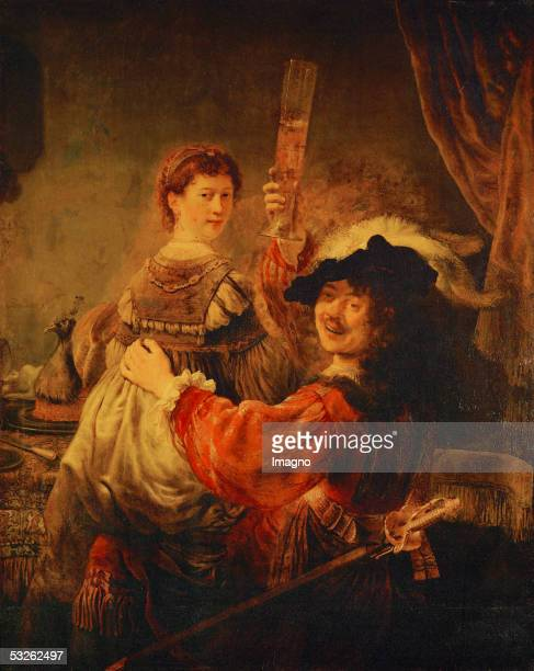 Rembrandt and Saskia in the parable of the Prodigal Son Oil on canvas 161 x 131 cm [Rembrandt und Saskia in der Parabel des verlorenen Sohns l/Lw 161...