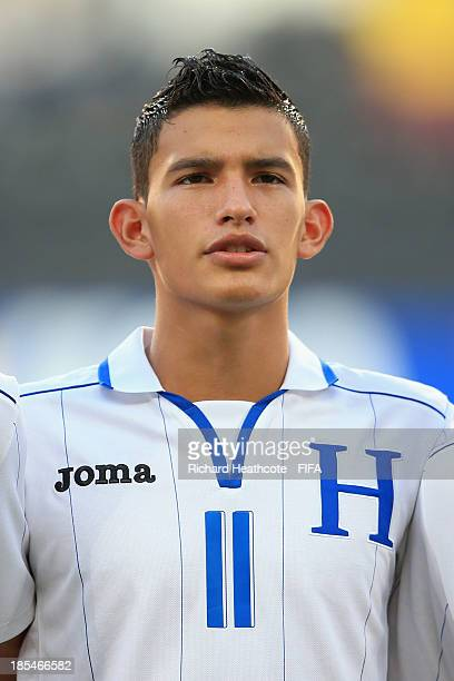 Rembrandt Flores of Honduras during the FIFA U17 World Cup UAE 2013 Group A match between Slovakia and Honduras at the Mohamed Bin Zayed Stadium on...