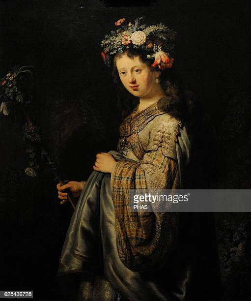 Rembrandt Harmenszoon van Rijn Dutch painter Flora 1634 The State Hermitage Museum Saint Petersburg Russia
