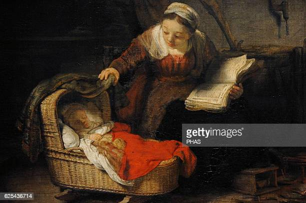 Rembrandt Harmenszoon van Rijn Dutch painter Holy Family 1645 Detail Oil on canvas The State Hermitage Museum Saint Petersburg Russia