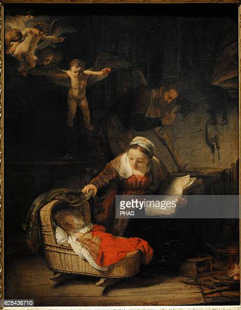 Rembrandt Harmenszoon van Rijn Dutch painter Holy Family 1645 Oil on canvas The State Hermitage Museum Saint Petersburg Russia