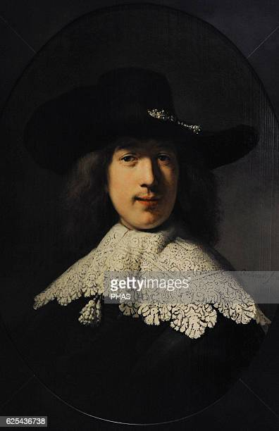 Rembrandt Harmenszoon van Rijn Dutch painter Portrait of a Young Man with a Lace Collar 1634 The State Hermitage Museum Saint Petersburg Russia