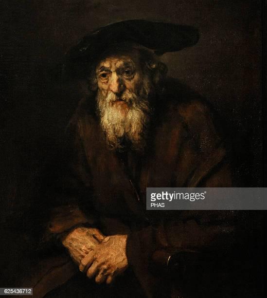 Rembrandt Harmenszoon van Rijn Dutch painter Portrait of an Old Jew 1654 The State Hermitage Museum Saint Petersburg Russia