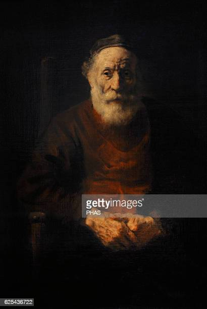 Rembrandt Harmenszoon van Rijn Dutch painter Portrait of an Old Man in Red Ca 16521654 Oil on canvas The State Hermitage Museum Saint Petersburg...