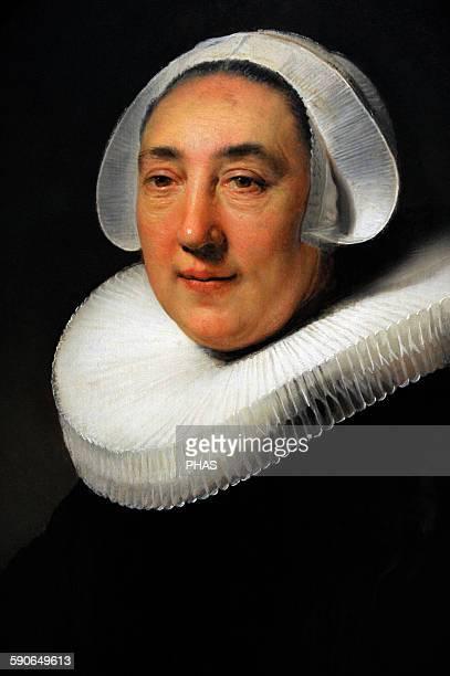 Rembrandt Harmenszoon van Rijn Dutch painter Portrait of Haesje Jacobsdr van Cleyburg 1634 Rijksmuseum Amsterdam Holland