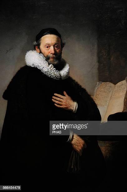 Rembrandt Harmenszoon van Rijn . Dutch painter. Portrait of Johannes Wtenbogaert , 1633. Rijksmuseum, Amsterdam, Holland.