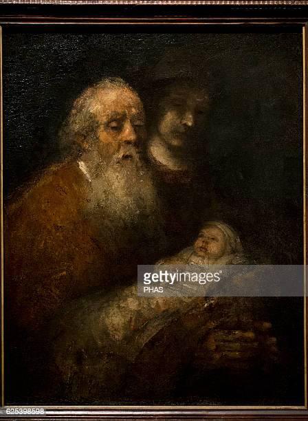 Rembrandt Harmenszoon van Rijn Dutch painter Simeon in the Temple c16681669 National Museum Stockholm Sweden