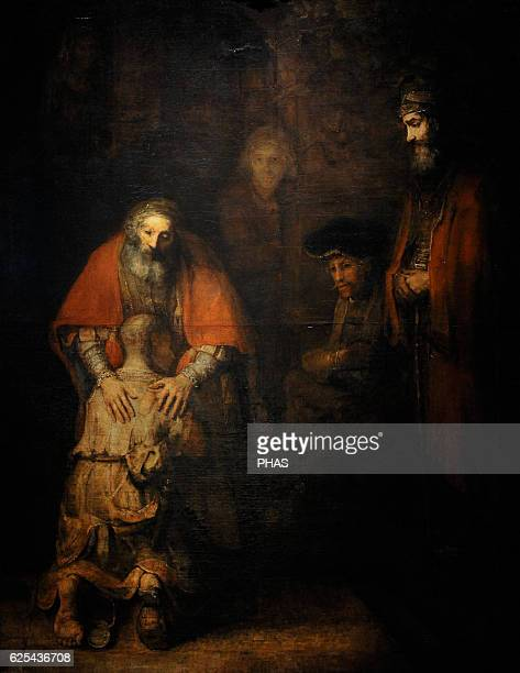 Rembrandt Harmenszoon van Rijn Dutch painter The return of the prodigal son Ca 1668 Oil on canvas The State Hermitage Museum Saint Petersburg Russia
