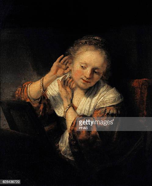 Rembrandt Harmenszoon van Rijn Dutch painter Young Woman with Earrings 1657 The State Hermitage Museum Saint Petersburg Russia