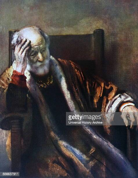 Rembrandt Harmenszoon van Rijn's painting titled 'an old man in an armchair' Rembrandt Dutch painter and etcher of the Dutch Golden Age and Baroque...