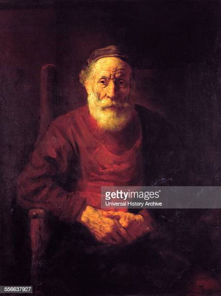Rembrandt Harmenszoon van Rijn's painting titled 'SelfPortrait' Rembrandt Dutch painter and etcher of the Dutch Golden Age and Baroque period Dated...