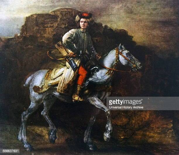 Rembrandt Harmenszoon van Rijn's painting titled 'The Polish Rider' Rembrandt Dutch painter and etcher of the Dutch Golden Age and Baroque period...