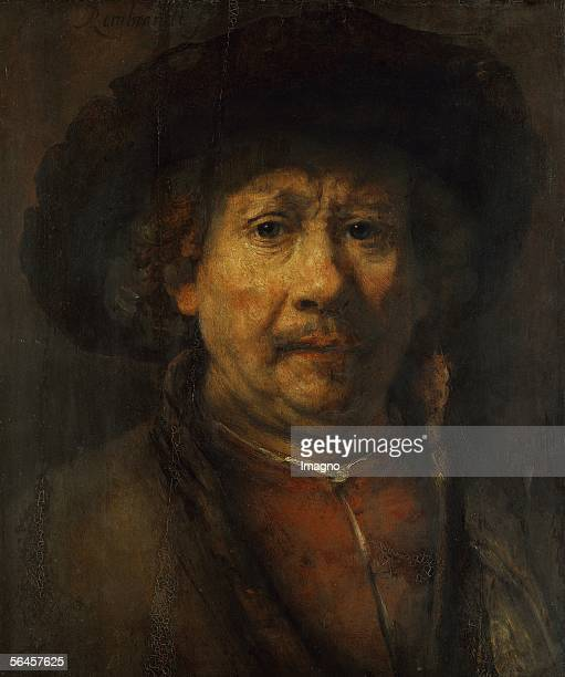 Rembrandt selfportrait Canvas Around 1657 [Selbstportrait von Rembarndt oel/Holz Um 1657 488 x 406 cm Inv 414]
