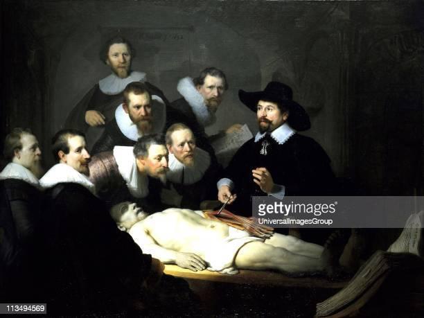 Rembrandt van Rijn The Anatomy Lesson of Dr Nicolaes Tulp 1632 Oil on canvas
