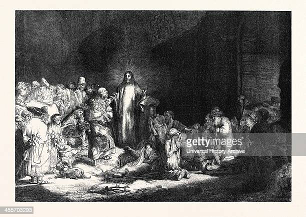 Rembrandt's Hundred Guilder Piece 'Christ Healing The Sick' 1869