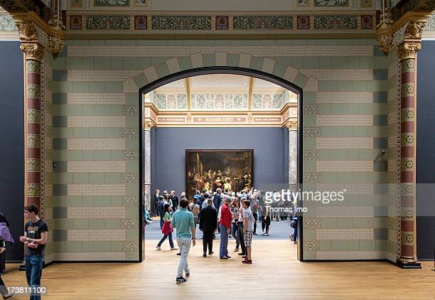 Rembrandt's The Night Watch at the Rijksmuseum on June 25 2013 in Amsterdam Netherland