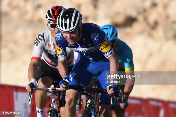 Remco Evenepoel of Belgium and Deceuninck - Quick Step Team in action, in front of Michal Kwiatkowski of Poland and Team SKY, and Gorka Izagirre of...