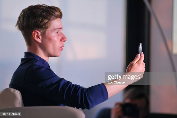 Remco Evenepoel of Belgium and Deceuninck - Quick-Step Team / during the Deceuninck - Quick-Step Team Presentation, on January 8, 2019 in Calpe,...