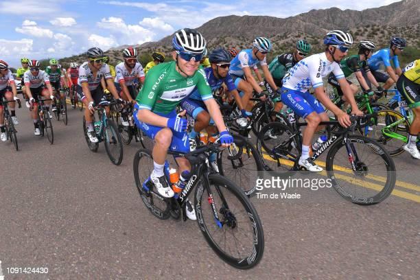 Remco Evenepoel of Belgium and Deceuninck QuickStep Team Green Best Young Rider Jersey / Julian Alaphilippe of France and Deceuninck QuickStep Team...
