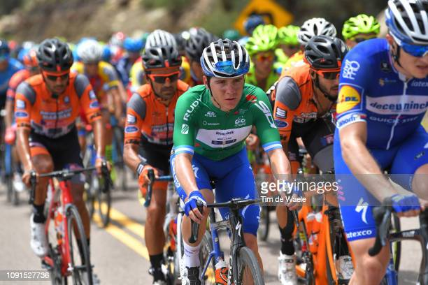 Remco Evenepoel of Belgium and Deceuninck QuickStep Team Green Best Young Rider Jersey / during the 37th Tour of San Juan 2019 Stage 4 a 1858km stage...