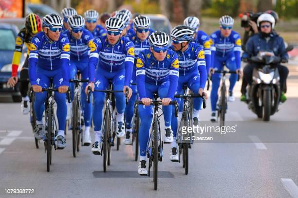 Remco Evenepoel of Belgium and Deceuninck - Quick-Step Team / Peloton / Training / during the Deceuninck - Quick-Step Team Presentation, on January...