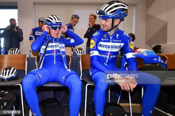 Remco Evenepoel of Belgium and Deceuninck QuickStep Team / Pieter Serry of Belgium and Deceuninck QuickStep Team / during the Deceuninck QuickStep...