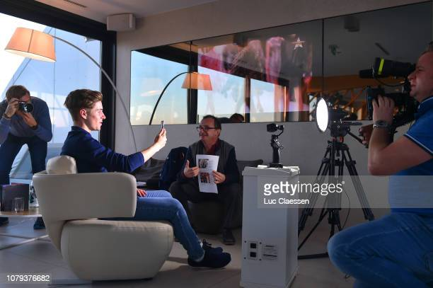 Remco Evenepoel of Belgium and Deceuninck - Quick-Step Team / Press Media / during the Deceuninck - Quick-Step Team Presentation, on January 8, 2019...