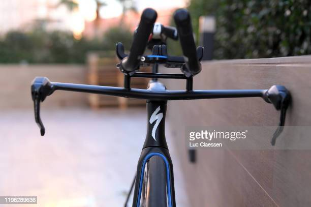 Remco Evenepoel of Belgium and Deceuninck - Quick-Step Team / Specialized Bike / Saddle / Detail view / during the Team Deceuninck-Quick-Step 2020 -...