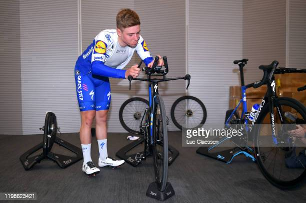 Remco Evenepoel of Belgium and Deceuninck - Quick-Step Team / Warm up / Specialized Bike / Tacx Rolling / during the Team Deceuninck-Quick-Step 2020...