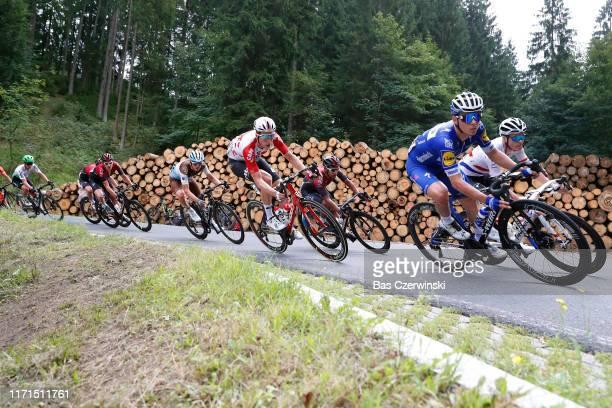 Remco Evenepoel of Belgium and Team Deceuninck QuickStep / Ben Swift of United Kingdom and Team INEOS / Jens Keukeleire of Belgium and Team Lotto...