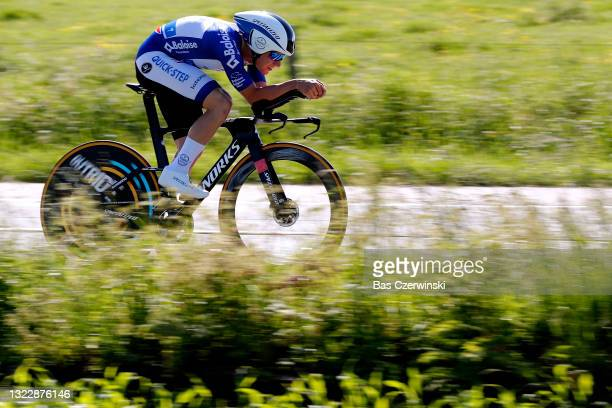 Remco Evenepoel of Belgium and Team Deceuninck - Quick-Step Blue leader jersey during the 90th Baloise Belgium Tour 2021, Stage 2 a 11,2km Individual...