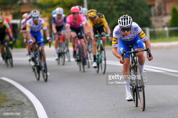 Remco Evenepoel of Belgium and Team Deceuninck - Quick-Step / Breakaway / Peloton / during the 77th Tour of Poland 2020, Stage 4 a 173km stage from...