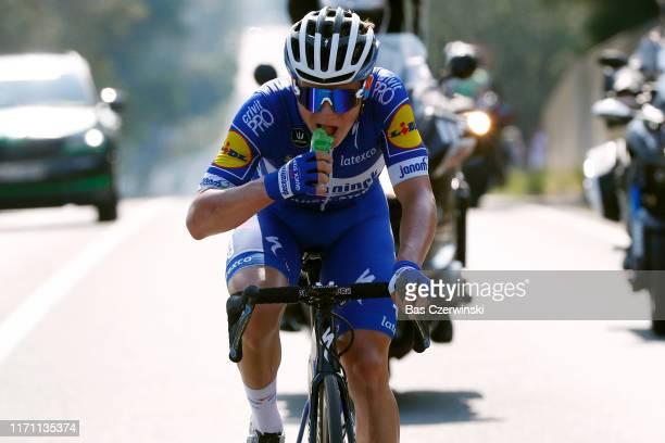 Remco Evenepoel of Belgium and Team Deceuninck QuickStep / Feeding / during the 34th Deutschland Tour 2019 Stage 2 a 202km stage from Marburg to...