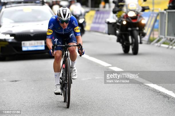 Remco Evenepoel of Belgium and Team Deceuninck - Quick-Step in the Breakaway during the 61st Druivenkoers - Overijse 2021 a 192km race from Overijse...