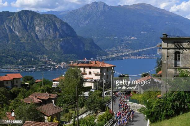 Remco Evenepoel of Belgium and Team Deceuninck - Quick-Step / Jakob Fuglsang of Denmark and Astana Pro Team / Vincenzo Nibali of Italy and Team Trek...