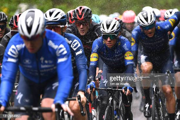 Remco Evenepoel of Belgium and Team Deceuninck - Quick-Step & The Peloton during the 104th Giro d'Italia 2021, Stage 4 a 187km stage from Piacenza to...
