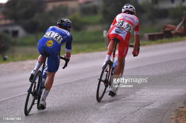 Remco Evenepoel of Belgium and Team Deceuninck-QuickStep / Fausto Masnada of Italy and Team Androni Giocattoli-Sidermec / during the 2nd Adriatica...