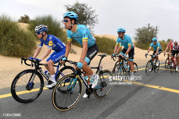 Remco Evenepoel of Belgium and Team DeceuninckQuickStep / Omar Fraile Matarranza of Spain and Astana Pro Team / during the 5th UAE Tour 2019 Stage 4...