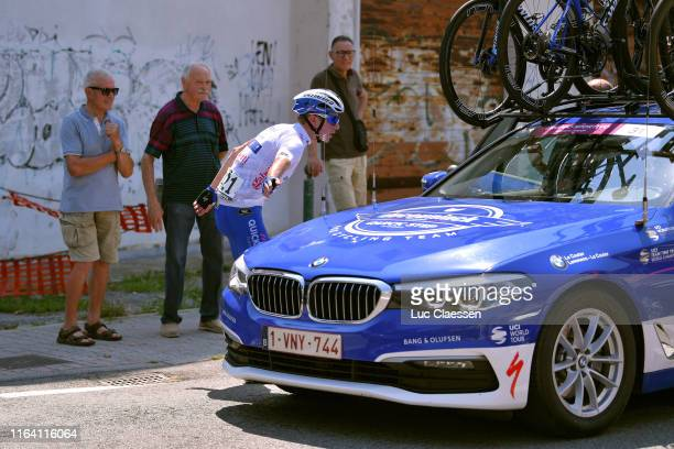 Remco Evenepoel of Belgium and Team DeceuninckQuickStep White Best Young Jersey / Mechanical Problem / Specialized Bike / Car / during the 2nd...