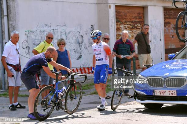 Remco Evenepoel of Belgium and Team DeceuninckQuickStep White Best Young Jersey / Mechanic / Mechanical Problem / Specialized Bike / during the 2nd...