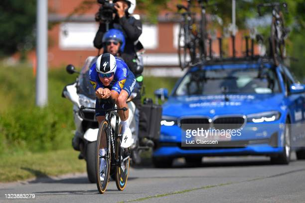 Remco Evenepoel of Belgium during the 122th Belgian Road Championship 2021 - Men's Individual Time Trial a 37,6km race from Ingelmunster to...