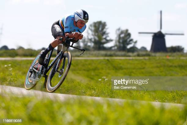 Remco Evenepoel of Belgium during the 25th UEC Road European Championships 2019 Elite Men's Time Trial a 224km Individual Time Trial race from...